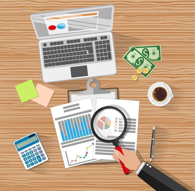 Financiële audit. fiscaal belastingproces.