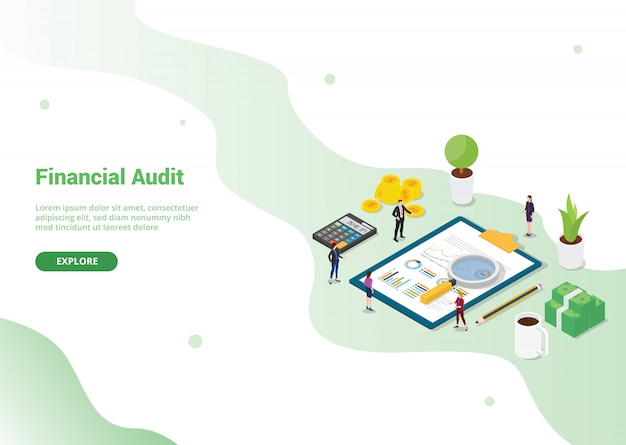 Financiële audit sjabloon voor websitemalplaatje