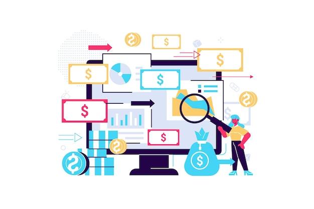 Financiële boekhouding en berekening van financiële inkomsten