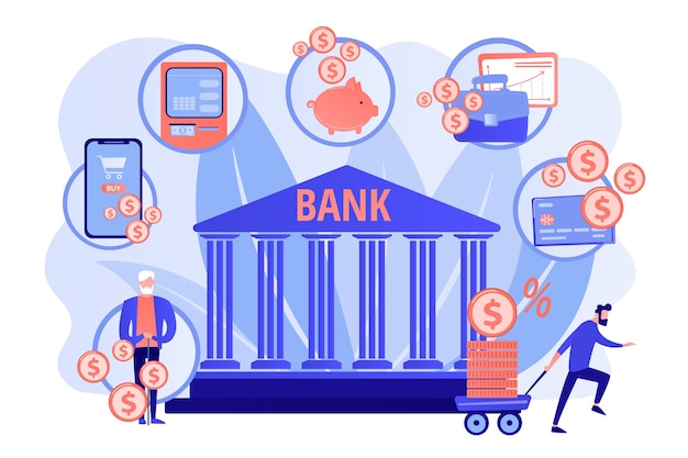 Financiële diensten. financiele transactie. e-commerce en e-betaling