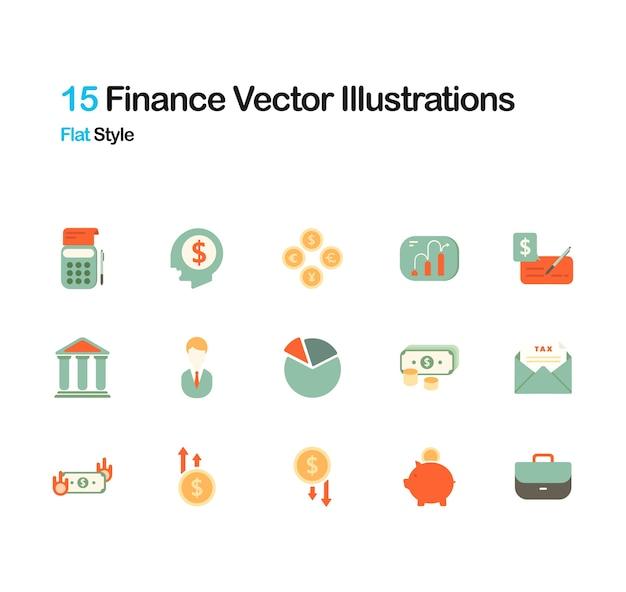Financiele flat illustratie