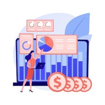 Financiële gegevens beheer abstracte concept illustratie