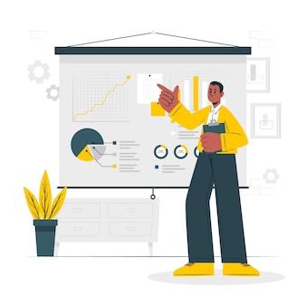 Financiële gegevens concept illustratie