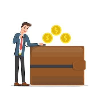 Financiële gezondheidscontrole illustratie