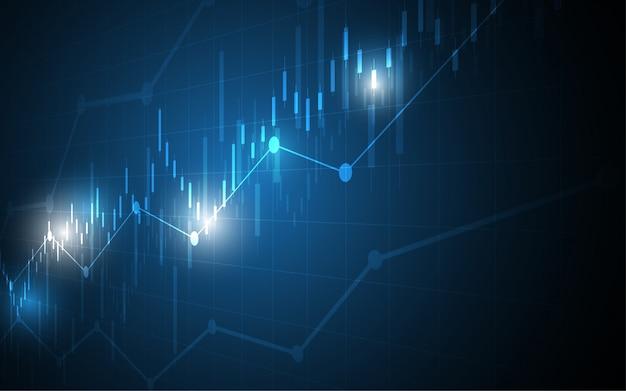 Financiële grafiek kaars stok grafiek bedrijf