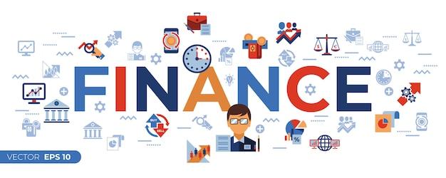 Financiële handel en marktenpictogrammeninzameling