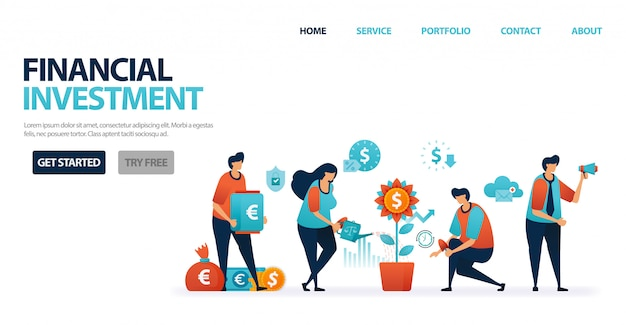 Financiële investeringen met bankdeposito's en beleggingsfondsen om investeringen te vereenvoudigen, bankkrediet met milde bankrente voor zakelijke leningen.