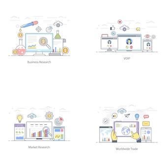 Financiële marketing vlakke afbeelding