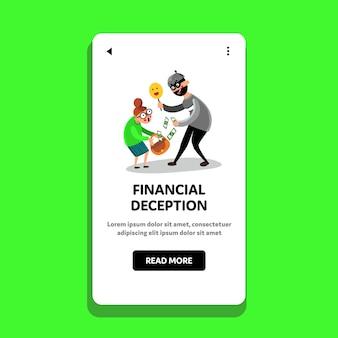 Financiële misleiding cajolery money people