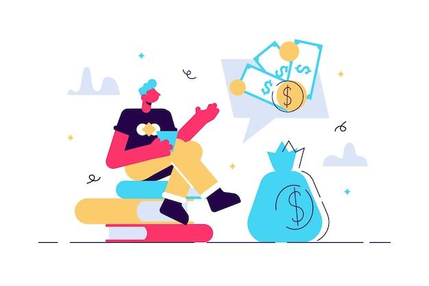 Financiële problemen, economische crisis, faillissement van bedrijven, kantoormedewerker onder druk