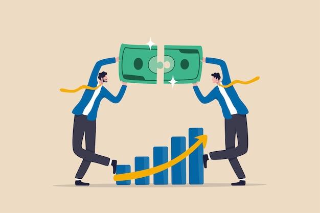 Financiële professionele adviseur voor vermogensbeheer lost geldprobleem op