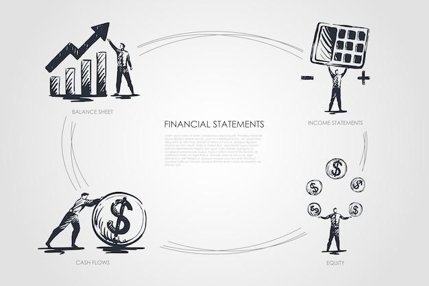 Financiële staten infographic