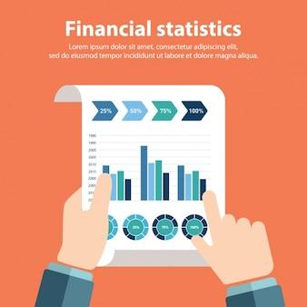 Financiële statistieken achtergrond ontwerp