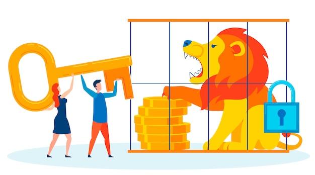 Financiële zekerheid metafoor