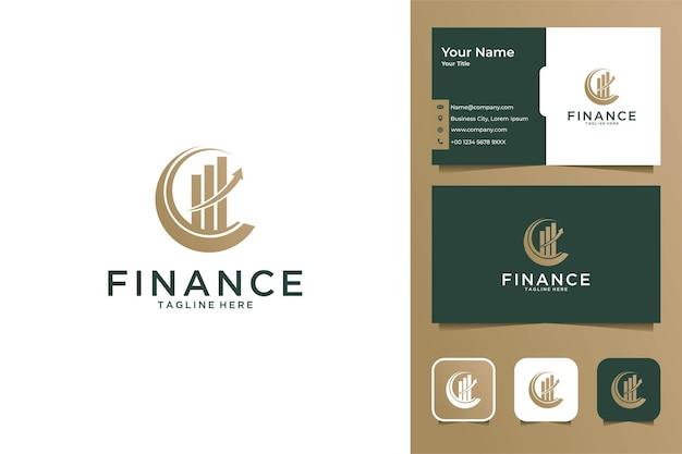 Financiën boekhouding modern logo ontwerp en visitekaartje business