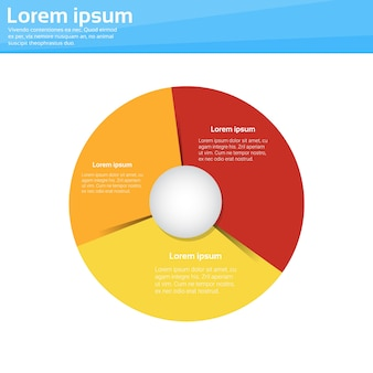 Financiën cirkeldiagram cirkel infographic