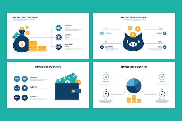 Financiën concept infographic stijl