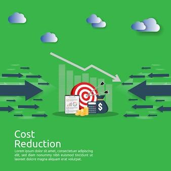 Financiën crisis concept. stapel stapel munten en geld tas. kostenbesparing. verlies van inkomen.