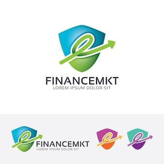 Financiën en marketing logo sjabloon