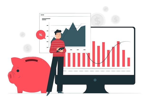 Financiën illustratie concept