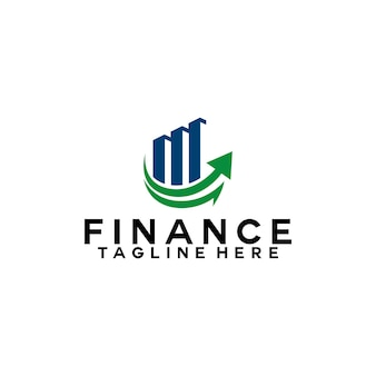 Financiën logo sjabloon boekhouding logo concept