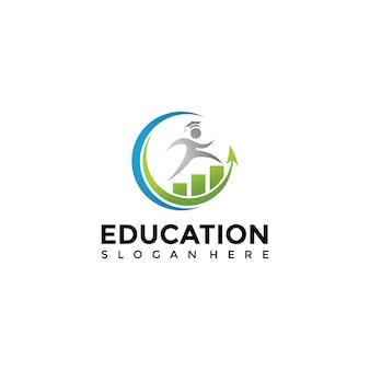Financiën onderwijs logo sjabloon
