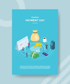 Financiering betaling dag folder sjabloon