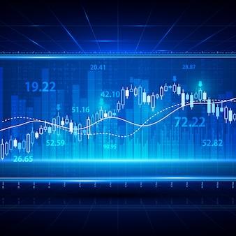 Financiering van investeringen beurs wissel achtergrond