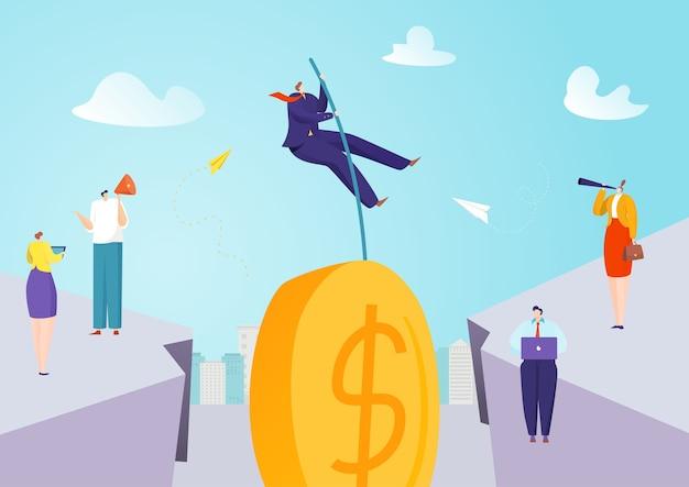Financiering van investeringssprong en ambitieuze sprong voor geldillustratie