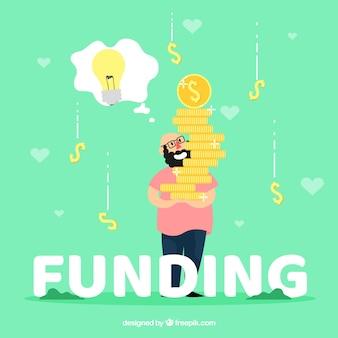 Financiering woord concept