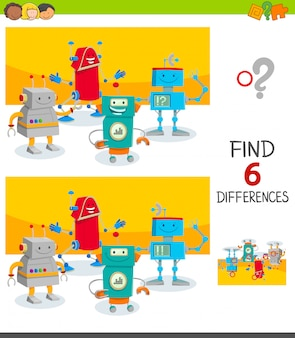 Find six differences between pictures educational game