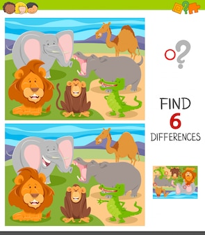 Find six differences between pictures game