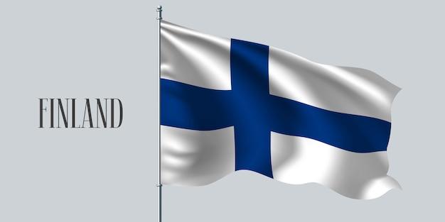 Finland zwaaien vlag illustratie