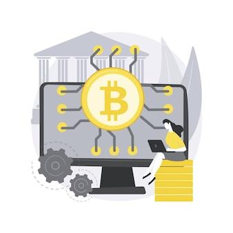 Fintech-technologie. technologie-integratie, financiële dienstverlener, betalingsverwerking, app voor aandelenhandel, kredietmarktplaats, hypotheek.