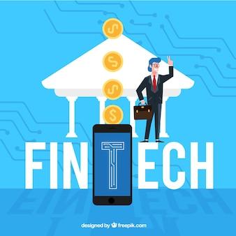 Fintech woord concept