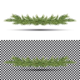Fir branch isolaat. decoraties voor de feestdagen met sparrenboom.