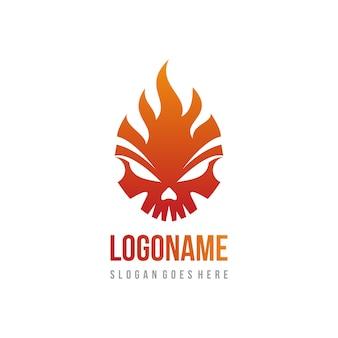 Fire skull-logo