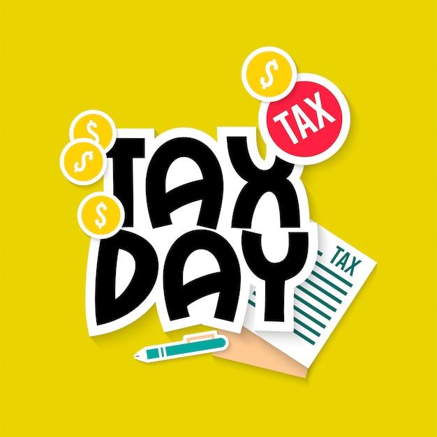 Fiscale dag illustratie