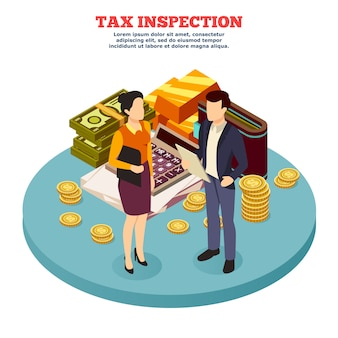 Fiscale inspectie isometrische samenstelling