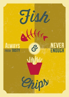 Fish and chips posterontwerp