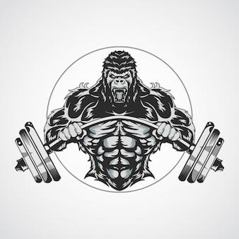 Fitnes gorilla logo's