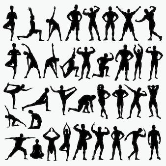 Fitness 2 silhouetten