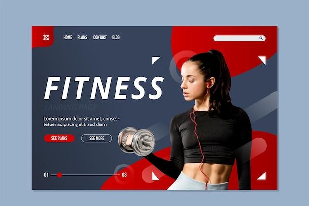 Fitness-bestemmingspagina
