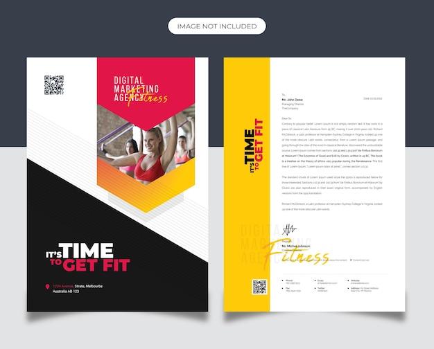 Fitness briefpapier template