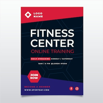 Fitness center posterontwerp