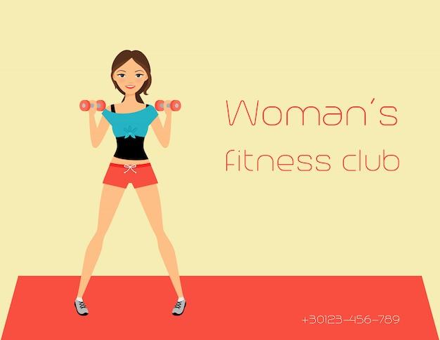 Fitness club sjabloon voor spandoek