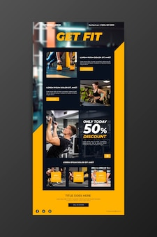 Fitness communicatie e-mailsjabloon