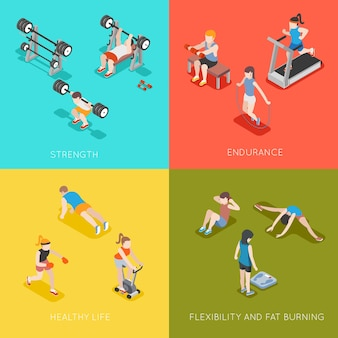 Fitness concept achtergronden.