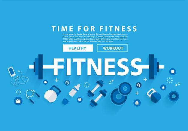 Fitness concept training met apparatuur.