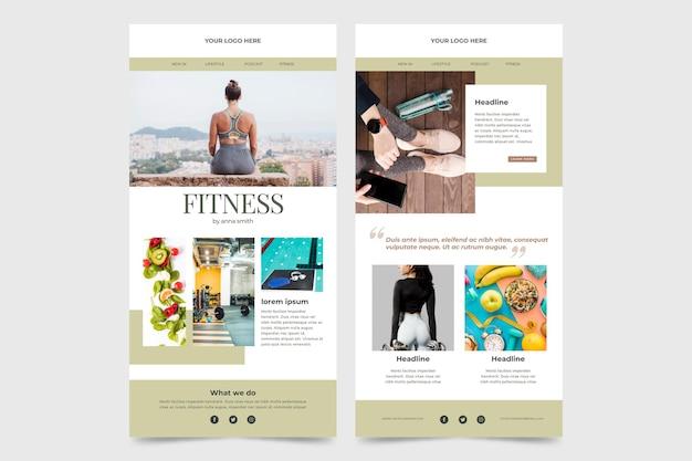 Fitness e-mailsjabloon ingesteld